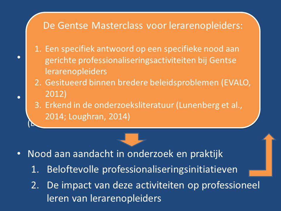 De Gentse Masterclass voor lerarenopleiders:
