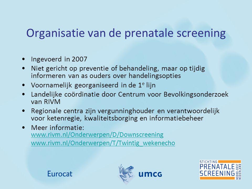 Organisatie van de prenatale screening