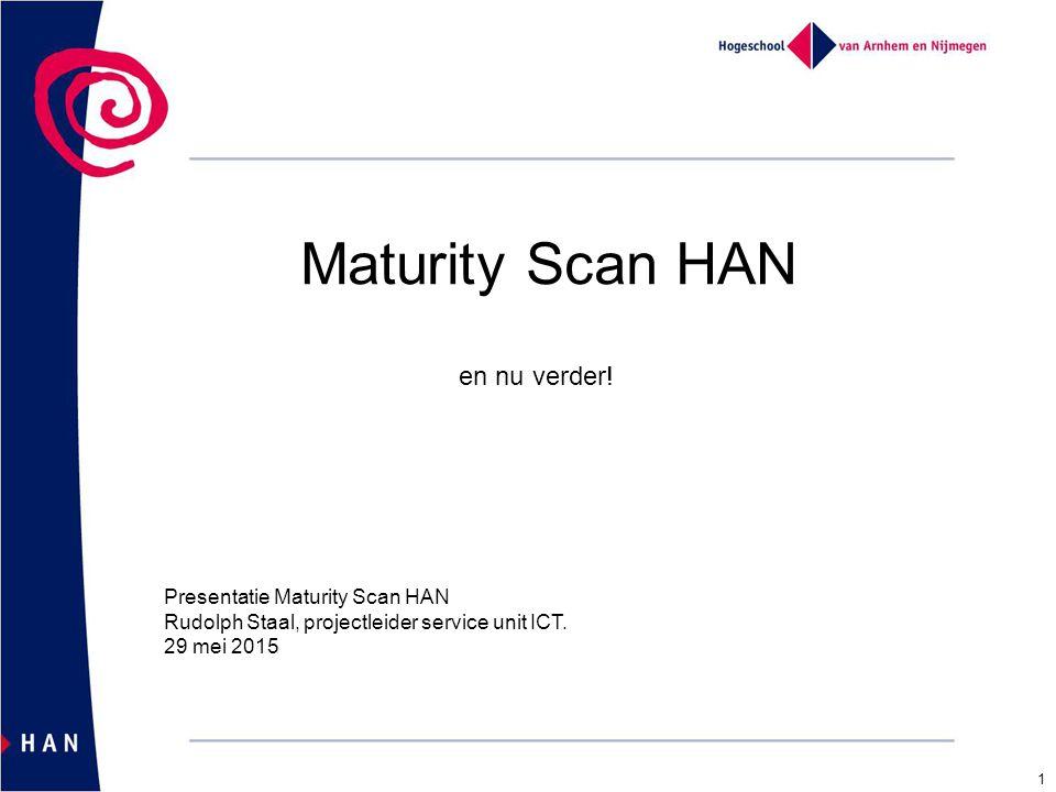 Maturity Scan HAN en nu verder! Presentatie Maturity Scan HAN