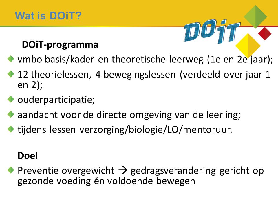 Wat is DOiT DOiT-programma