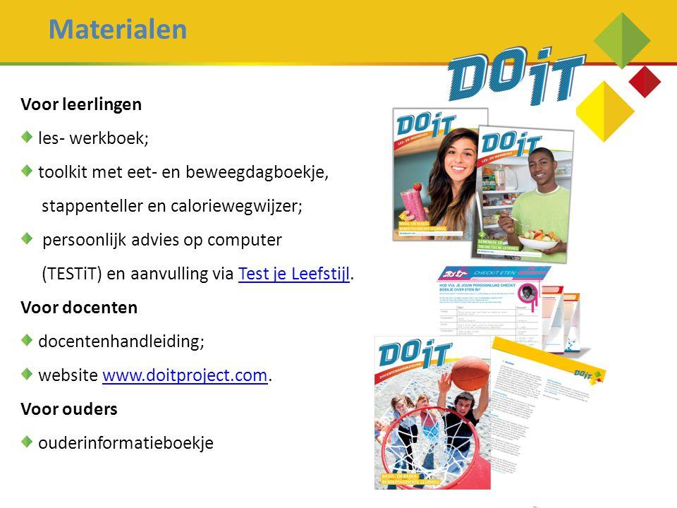 Materialen Voor leerlingen les- werkboek;