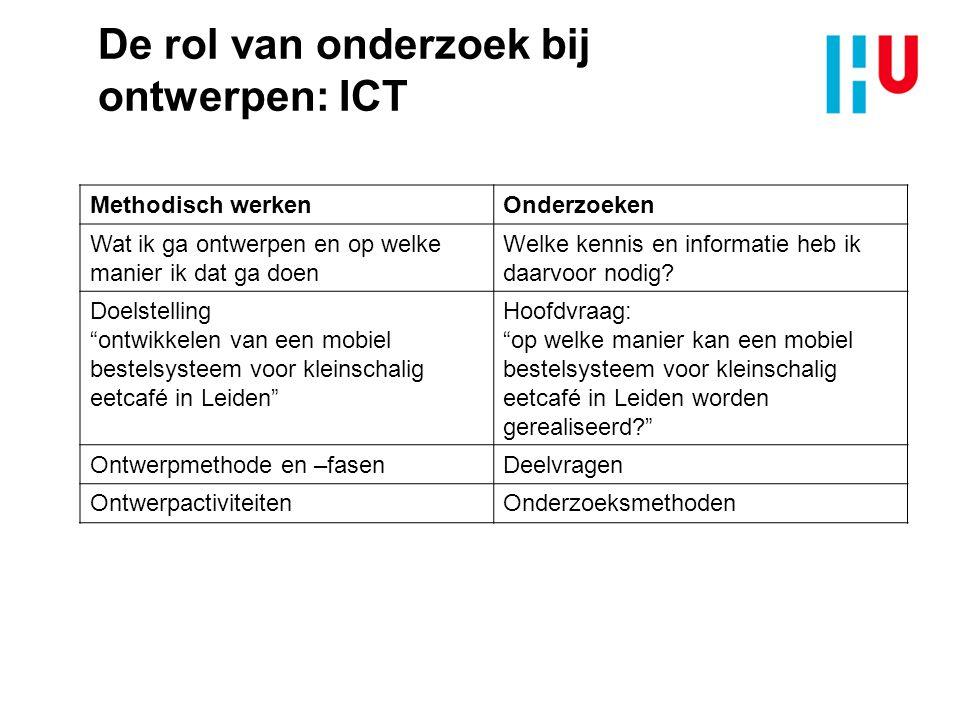 De rol van onderzoek bij ontwerpen: ICT