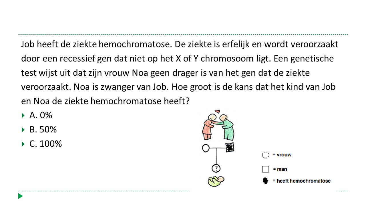 Job heeft de ziekte hemochromatose