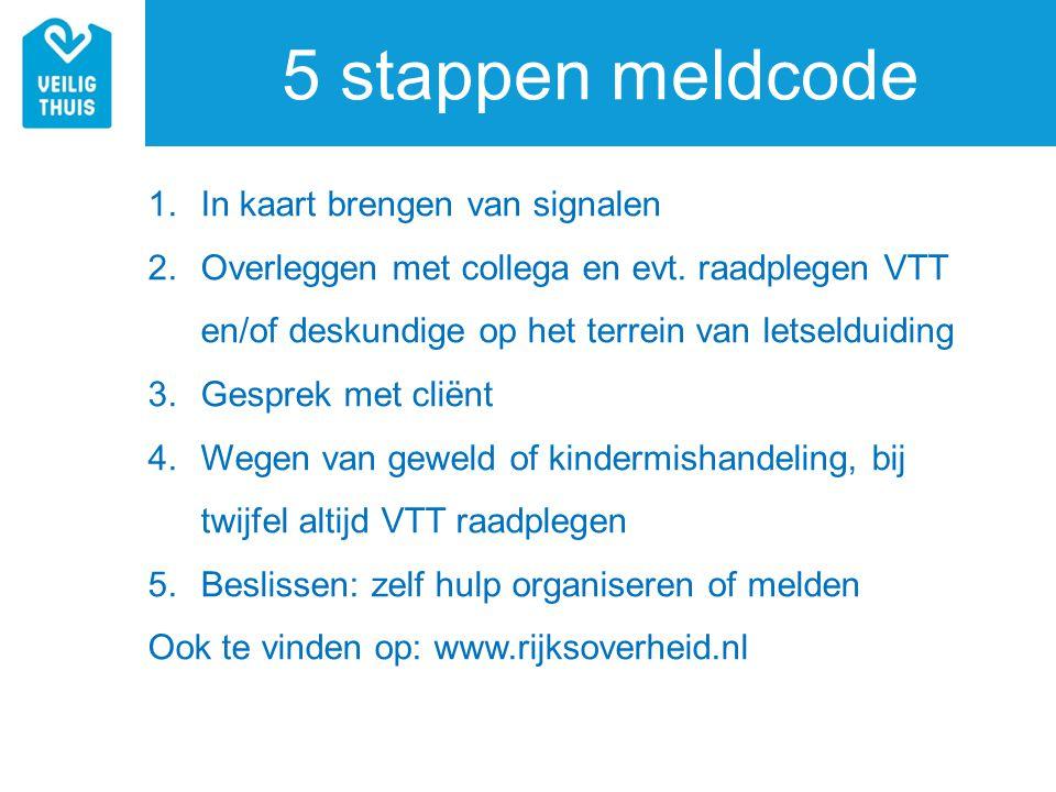 5 stappen meldcode In kaart brengen van signalen