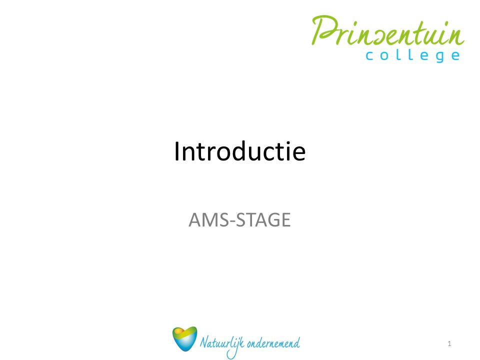 Introductie AMS-STAGE