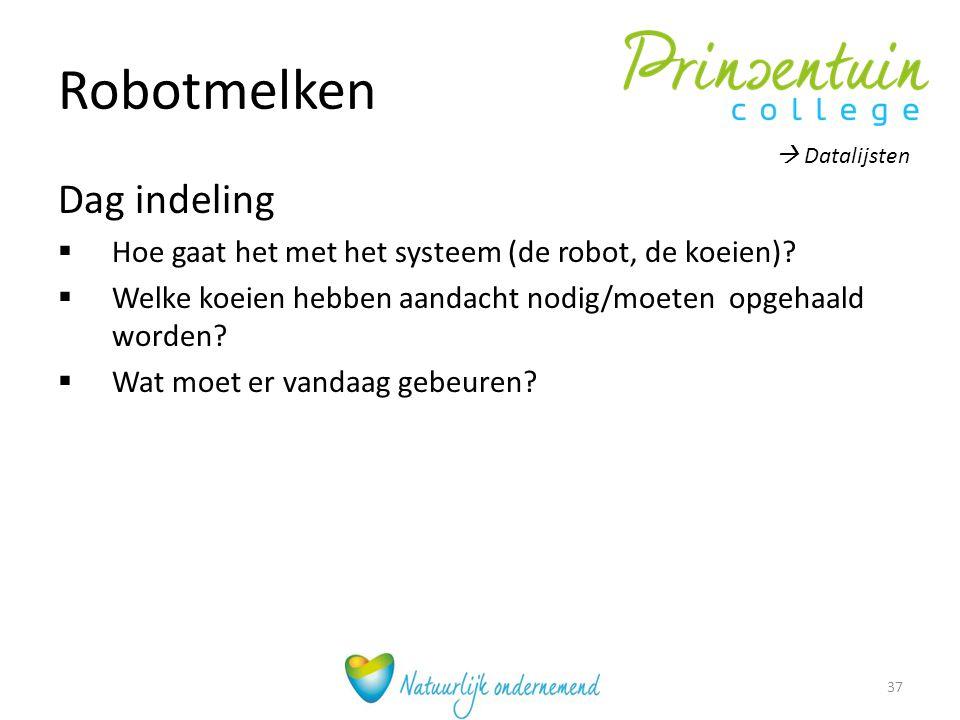 Robotmelken Dag indeling