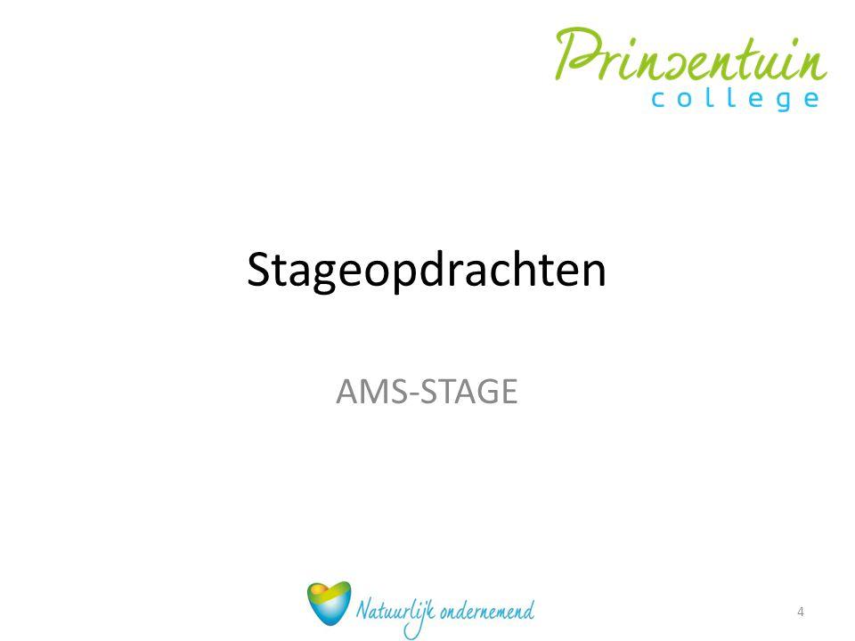 Stageopdrachten AMS-STAGE