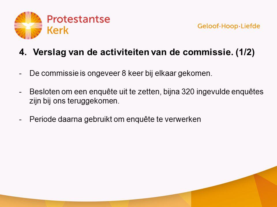 Verslag van de activiteiten van de commissie. (1/2)