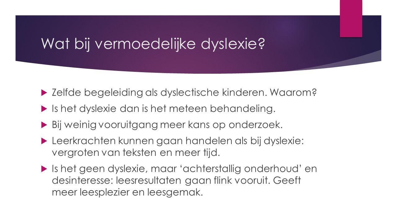 Wat bij vermoedelijke dyslexie