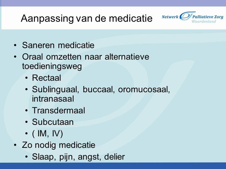 Aanpassing van de medicatie