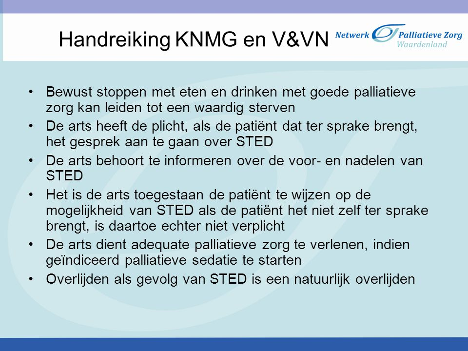 Handreiking KNMG en V&VN