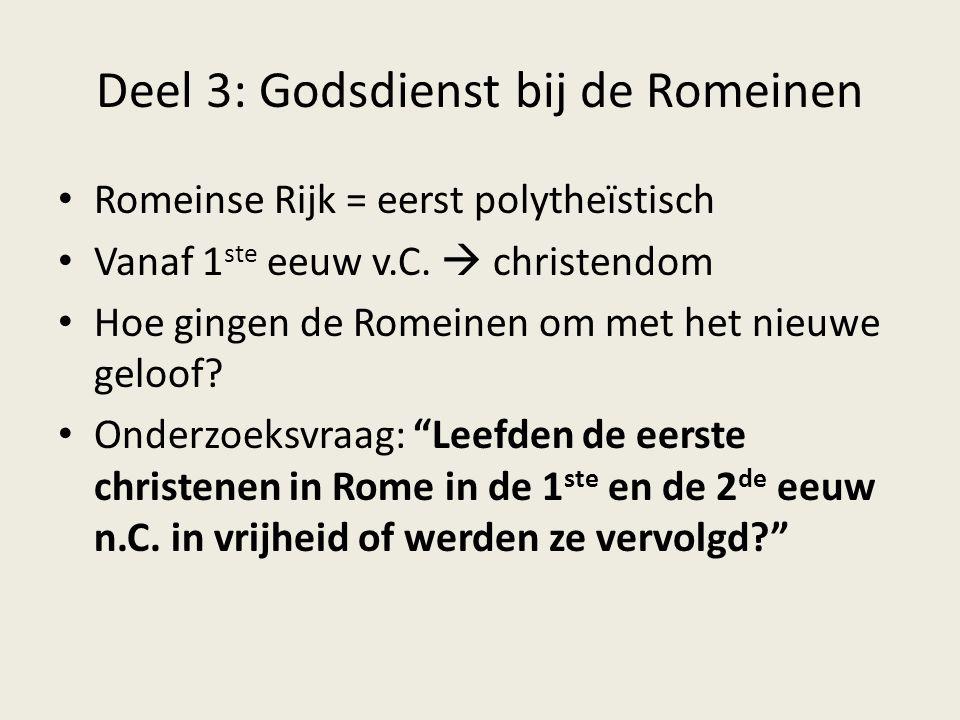 Deel 3: Godsdienst bij de Romeinen