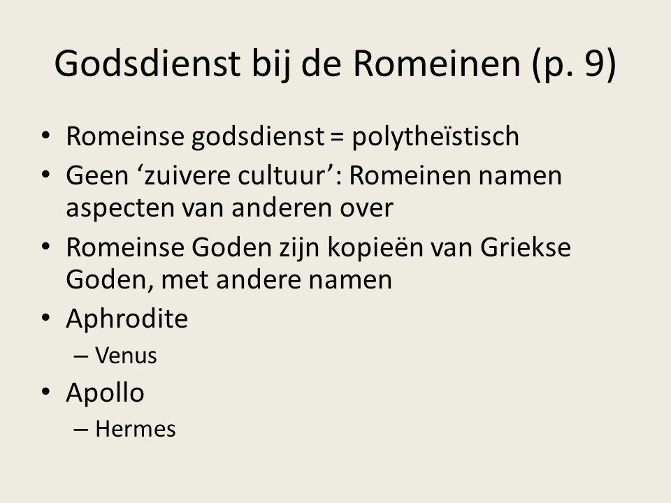 Godsdienst bij de Romeinen (p. 9)