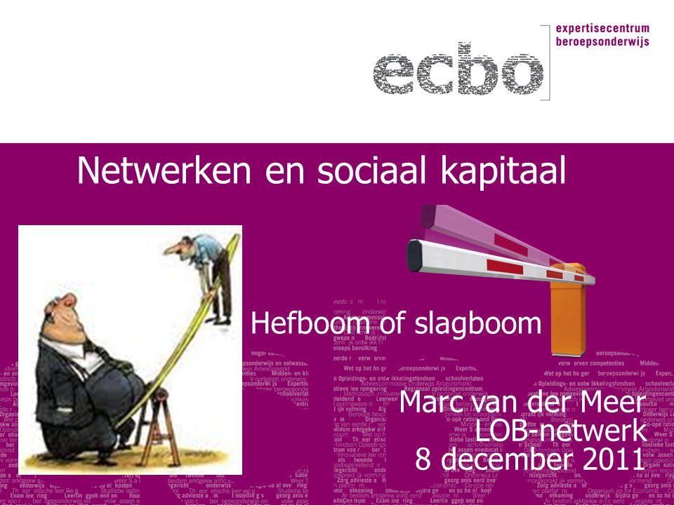Netwerken en sociaal kapitaal