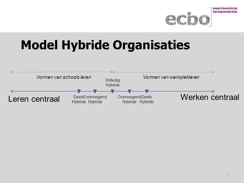 Model Hybride Organisaties