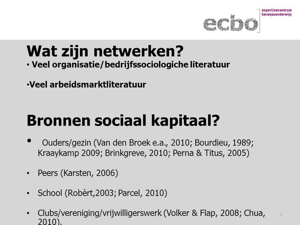 Bronnen sociaal kapitaal