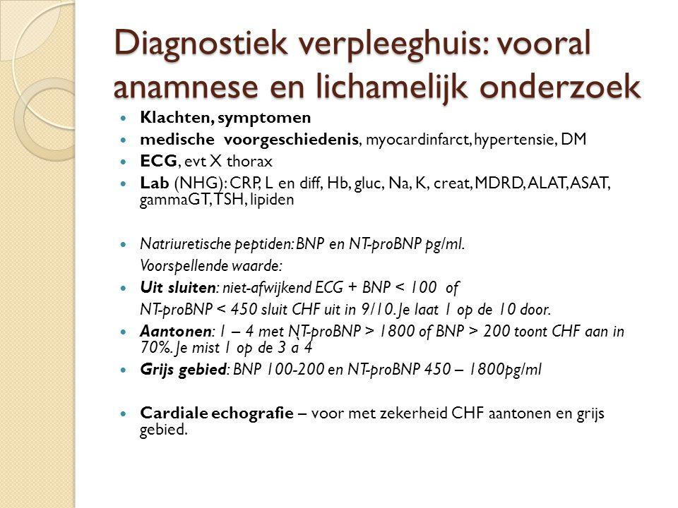Diagnostiek verpleeghuis: vooral anamnese en lichamelijk onderzoek