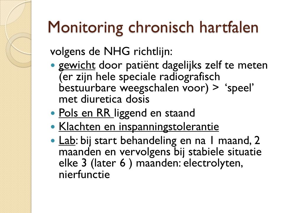 Monitoring chronisch hartfalen