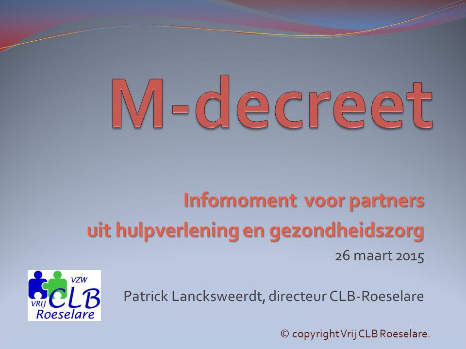 M-decreet Infomoment voor partners