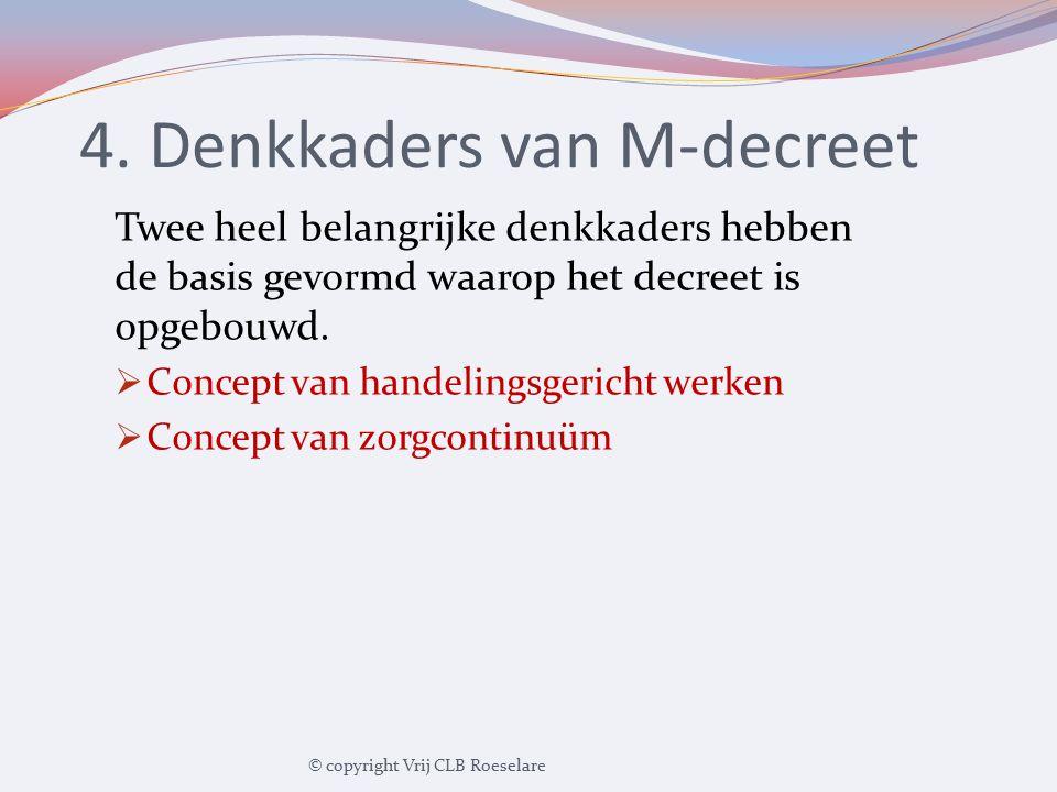 4. Denkkaders van M-decreet