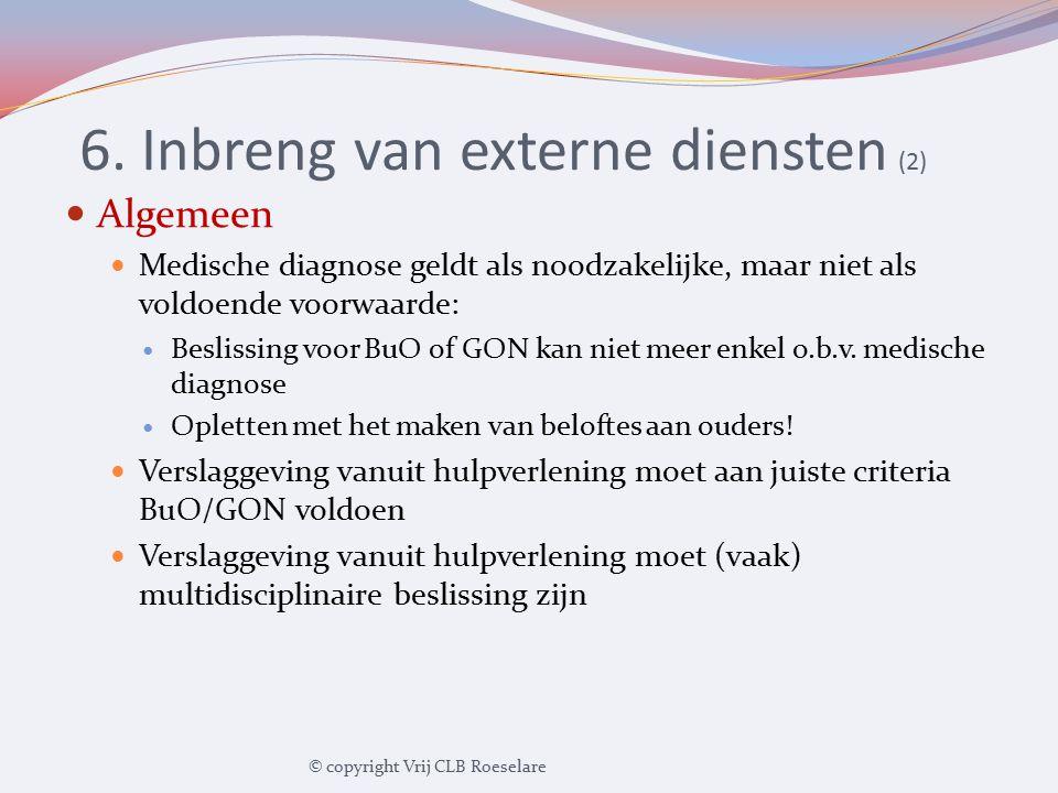 6. Inbreng van externe diensten (2)