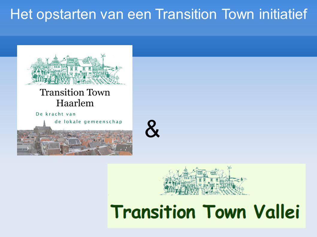 Het opstarten van een Transition Town initiatief