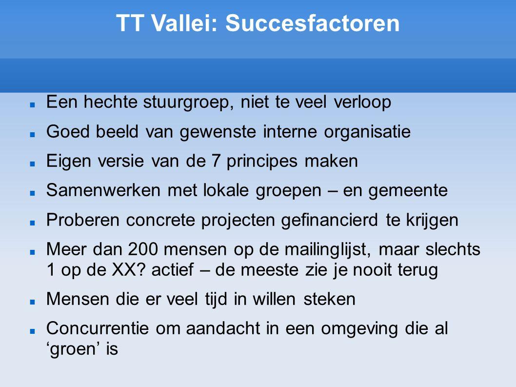 TT Vallei: Succesfactoren