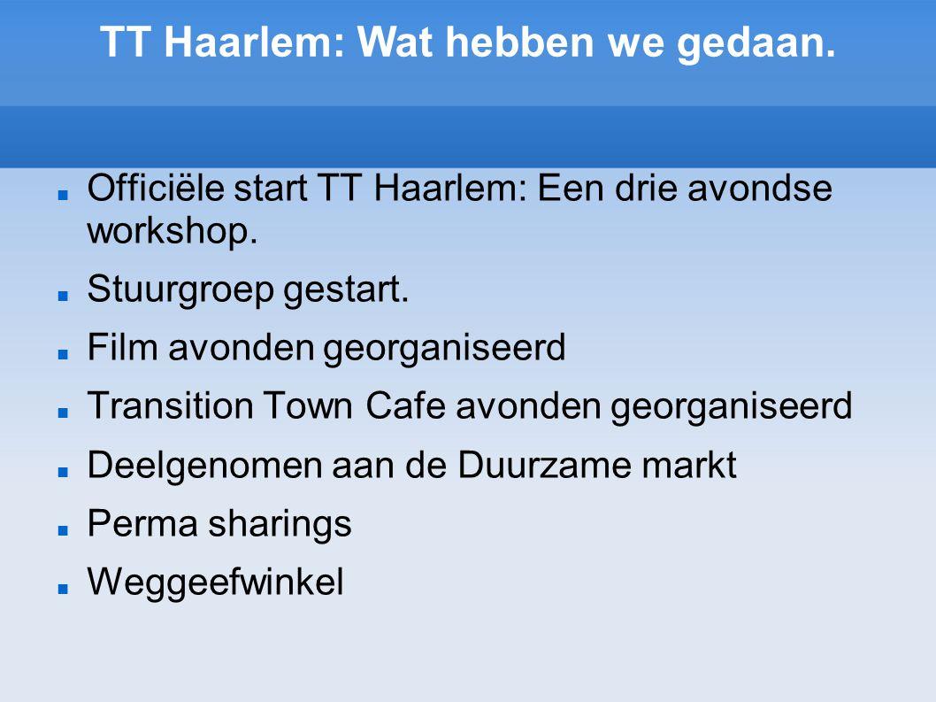 TT Haarlem: Wat hebben we gedaan.