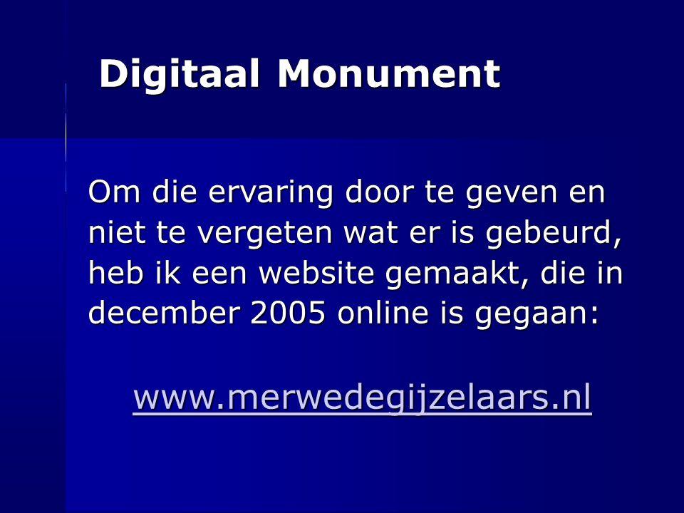 Digitaal Monument www.merwedegijzelaars.nl