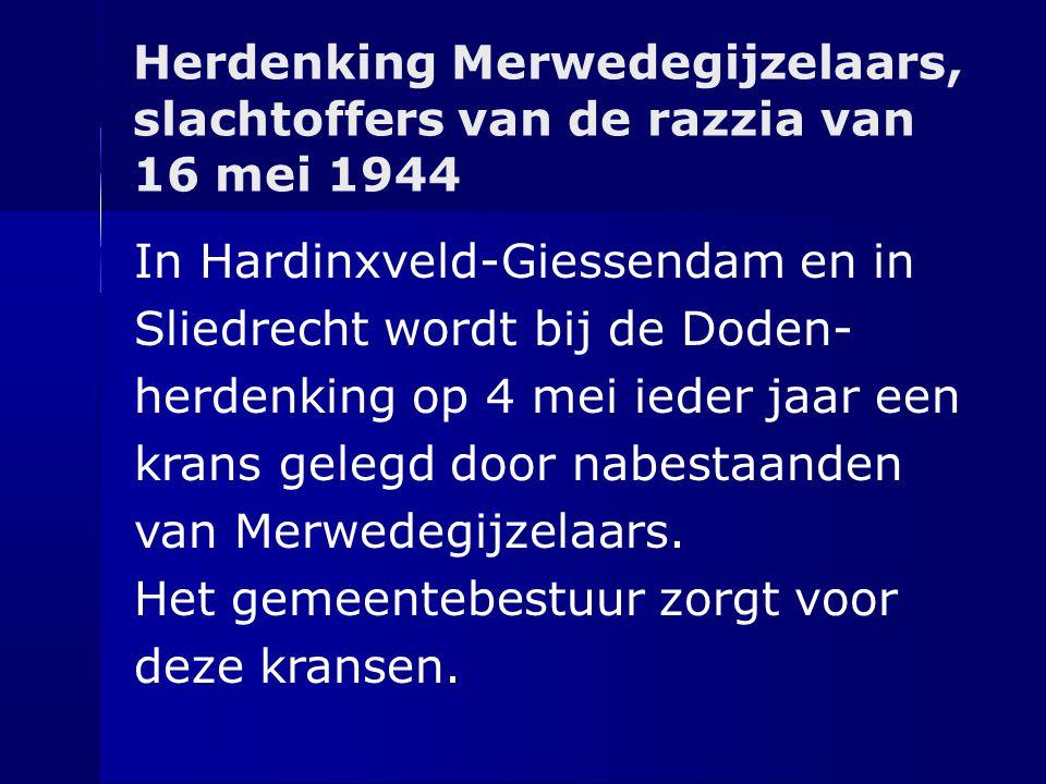 Herdenking Merwedegijzelaars, slachtoffers van de razzia van 16 mei 1944