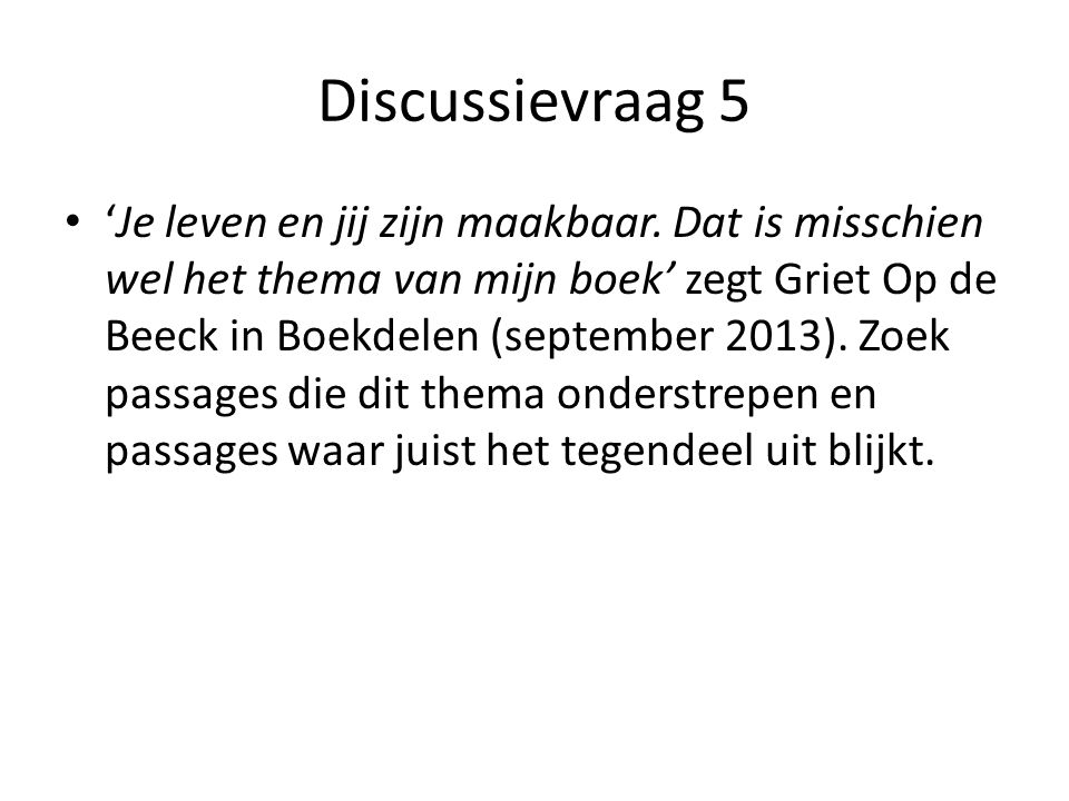 Discussievraag 5