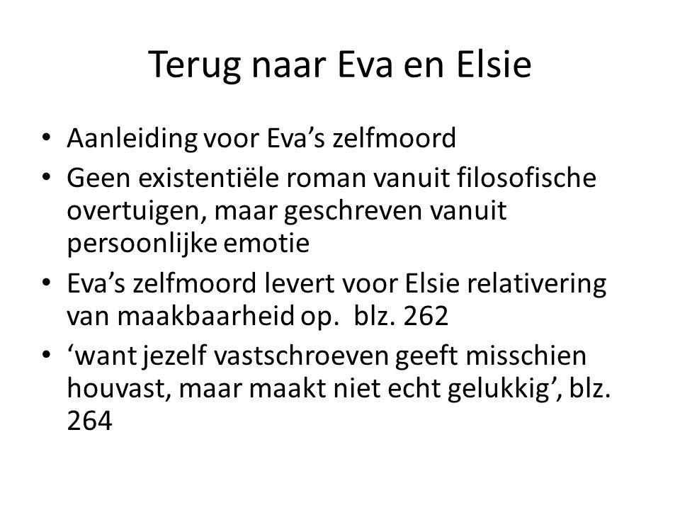Terug naar Eva en Elsie Aanleiding voor Eva's zelfmoord