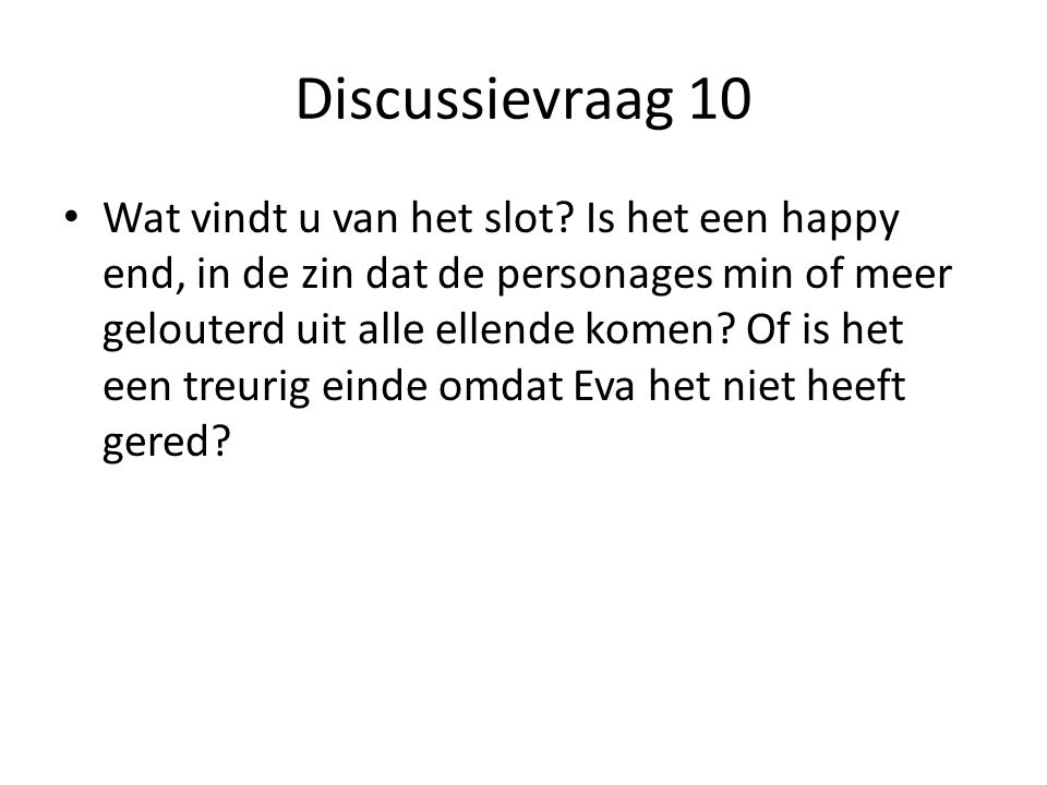 Discussievraag 10