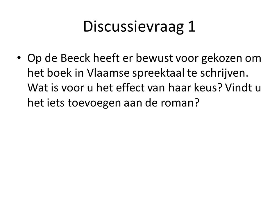 Discussievraag 1
