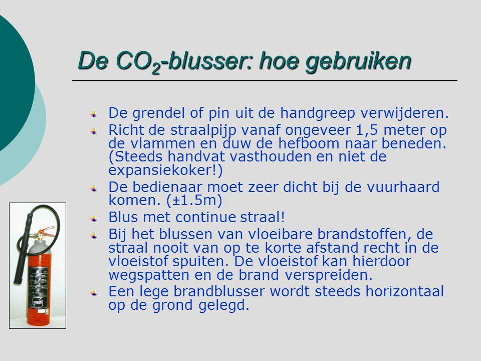 De CO2-blusser: hoe gebruiken