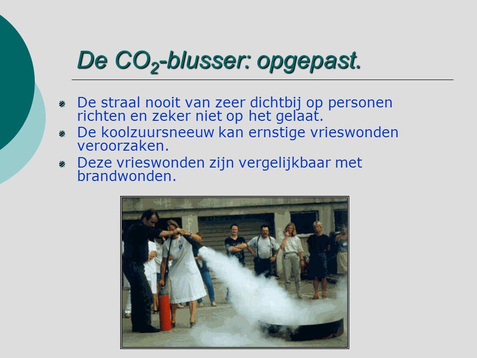 De CO2-blusser: opgepast.