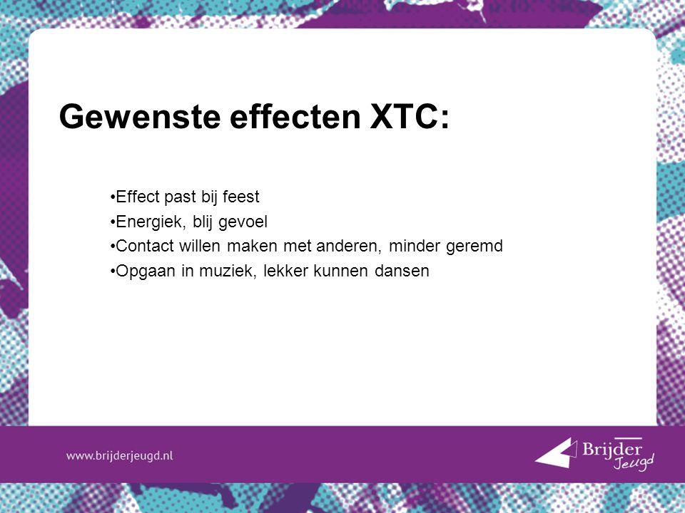 Gewenste effecten XTC: