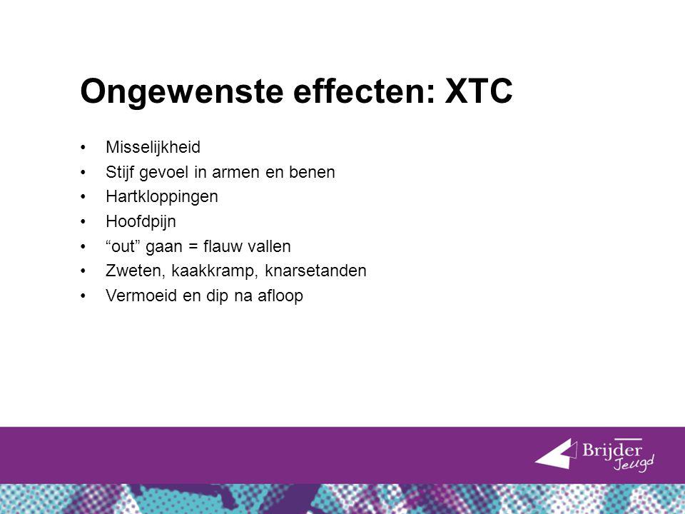 Ongewenste effecten: XTC