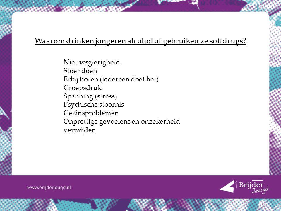 Waarom drinken jongeren alcohol of gebruiken ze softdrugs