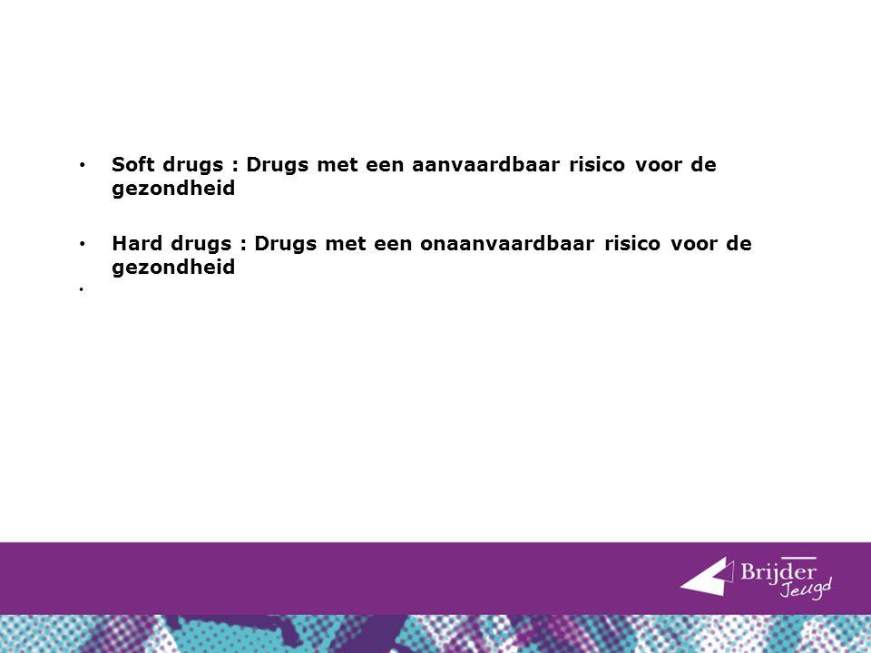 Soft drugs : Drugs met een aanvaardbaar risico voor de gezondheid