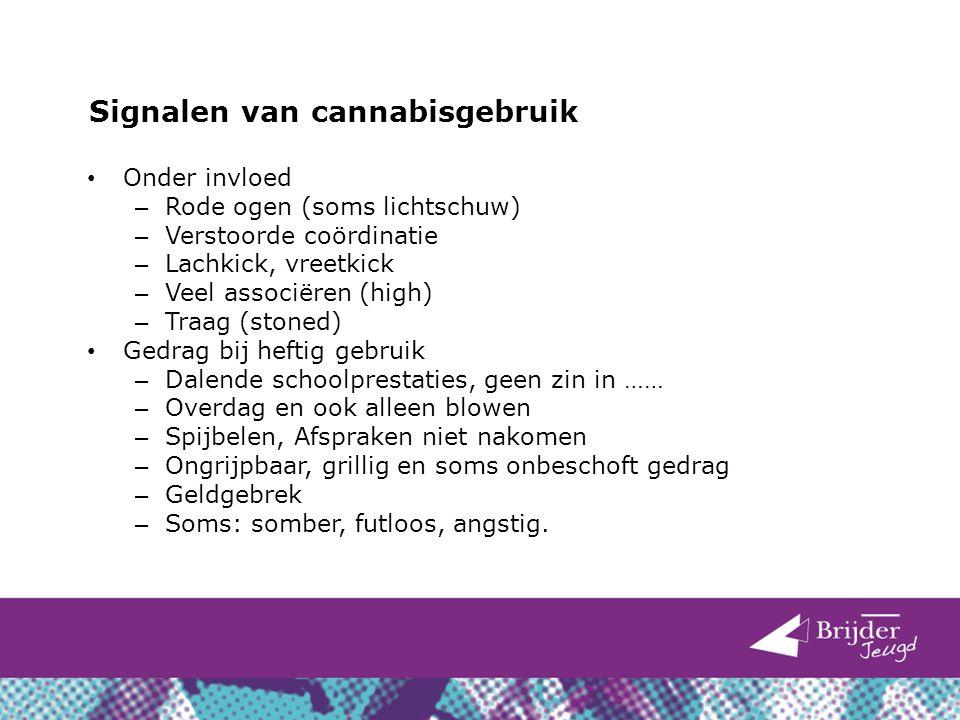 Signalen van cannabisgebruik