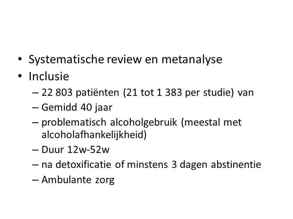 Systematische review en metanalyse Inclusie