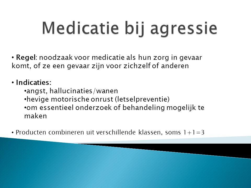 Medicatie bij agressie