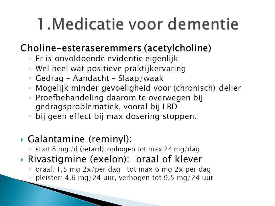 1.Medicatie voor dementie