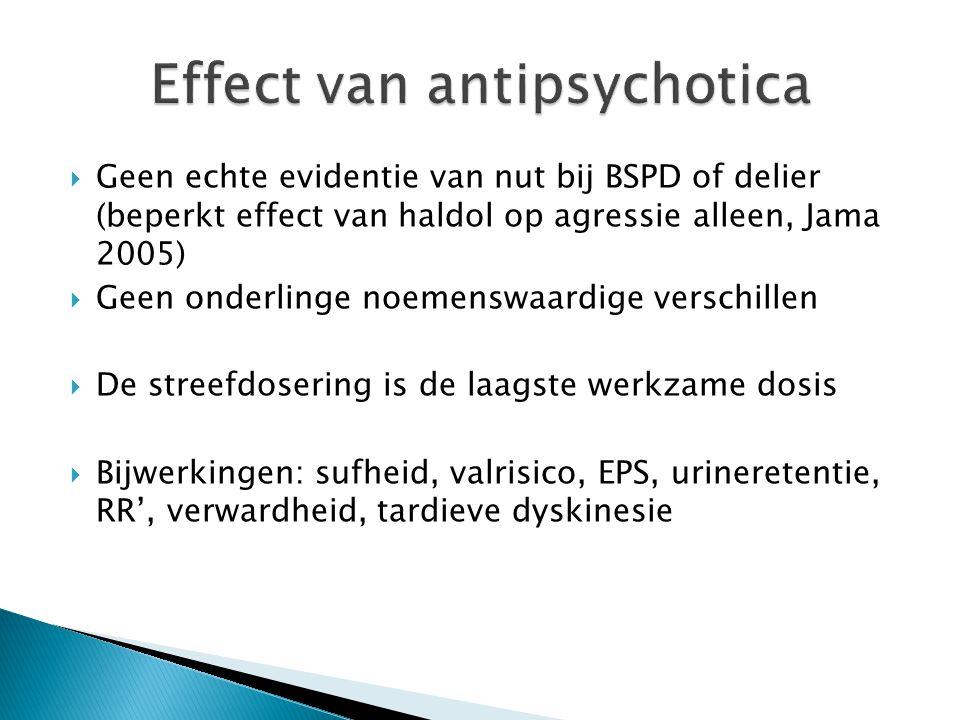 Effect van antipsychotica