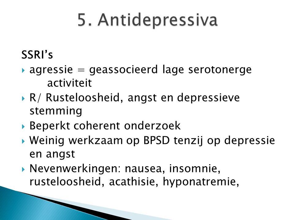 5. Antidepressiva SSRI's