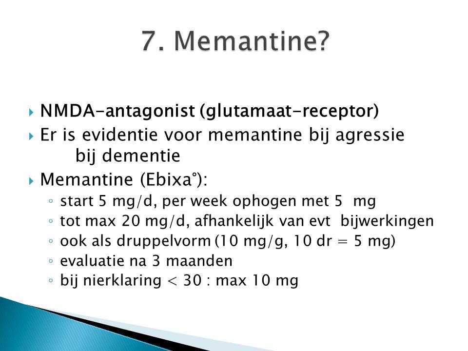 7. Memantine NMDA-antagonist (glutamaat-receptor)