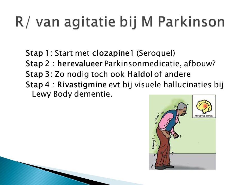 R/ van agitatie bij M Parkinson