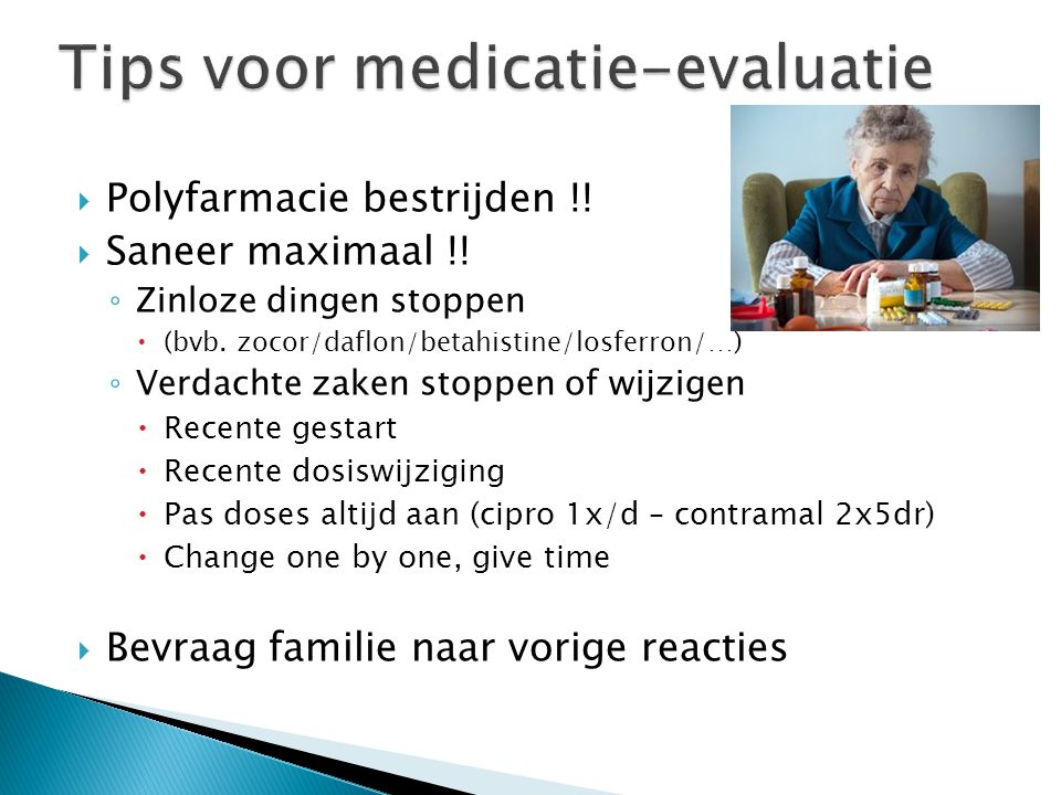Tips voor medicatie-evaluatie