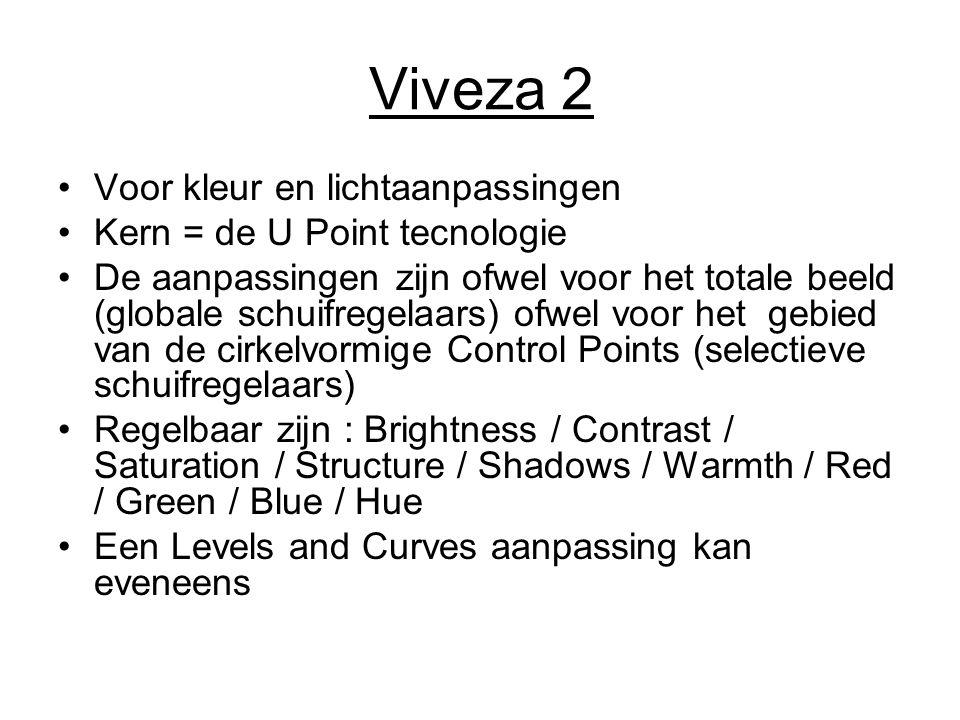 Viveza 2 Voor kleur en lichtaanpassingen Kern = de U Point tecnologie